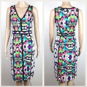 Nicole by Nicole Miller floral fitted midi dress
